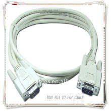 High Quality White HDB15 PIN CABLE MM VGA SVGA CABLE projecteur, moniteur LCD