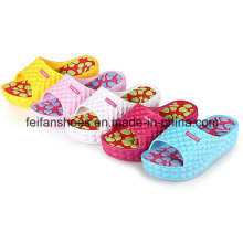 Zapatillas de playa de masaje sandalias gruesas EVA Women Flip Flop Indoor