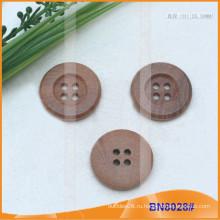 Естественные деревянные кнопки для одежды BN8028
