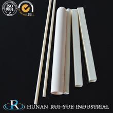 Alumina cerâmica Rod / tubo / virolas 99% 95% / tubo aquecedor cerâmico