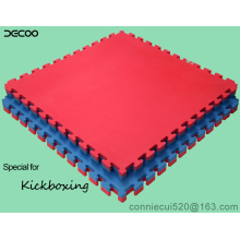 T Pattern Red Blue Color Eva Judo Floor Mat 4cm