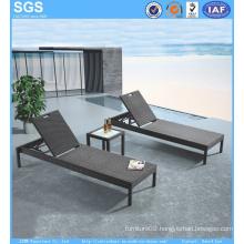 Cheap Outdoor Furniture PE Rattan Sun Lounger