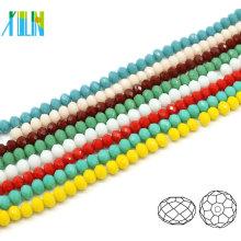 A5040 # -4 Alabaster Farbe Crystal facettierte Rondelle Craft Sicke Lieferungen Reifen Perlen