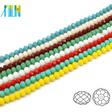 A5040#-4 Alabaster Color Crystal Faceted Rondelle Craft Beading Supplies Tyre Beads