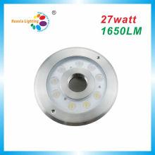 Lumière de fontaine de la puissance élevée IP68 LED 27W, lumière sous-marine