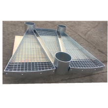Outdoor fan-shape stair treads galvanized spiral stair treads