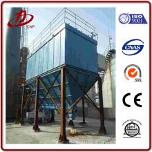 Sistema de recolha de poeiras a jacto utilizado para a aplicação de caldeiras a carvão