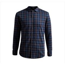 OEM 2015 Spätestes Design 100% Baumwolle Plaid Printing Shirts für Männer
