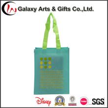 Venda quente impressão personalizada moda luxo PP não tecidos de saco de compras