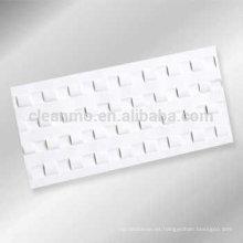 Tarjeta de limpieza de mostrador de moneda plana, tarjeta de limpieza para banco