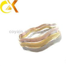 Jóias de pulseira de jóias de aço inoxidável com 3 cores areia explosão, bracelete de ouro rosa