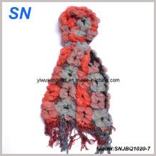 2014 Fashion Skinny Stripe Checked Winter Warm Ruffle Bubble Scarves