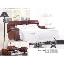 Sofá-cama dobrável de couro moderno 847 #