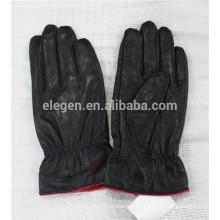 Invierno cordero genuino dama guantes de cuero