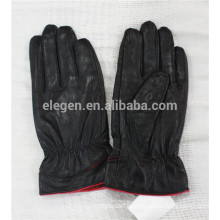winter genuine lamb leather lady gloves