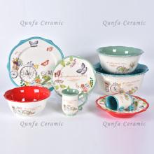 Sistemas de cerámica de lujo del servicio de mesa del nuevo sistema de cena de moda