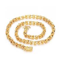 Colliers chaîne cubaine en or massif, bijoux plaqué cuivre or 18 carats