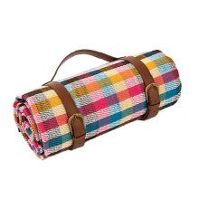 extra large custom logo waterproof outdoor boho Woven Picnic Blanket  Tapis de pique-nique Mat