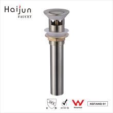 Haijun China Factory Push Down Pop-Up Bathtub Overflow Shower Drain