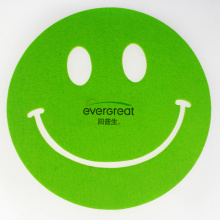 Mega felt smile shape decoration