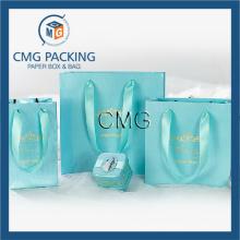 Tiffany Blue Jewelry Display Packing Paper Bag (DM-GPBB-066)