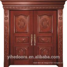 Haupttür Design solide Teak Holz Tür