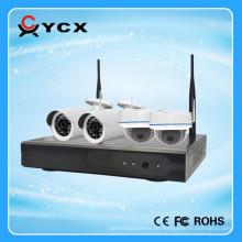 2016 más nuevo 100m WIFI Kit IP 4CH 720P Wireless NVR Kit OEM ODM fabricante
