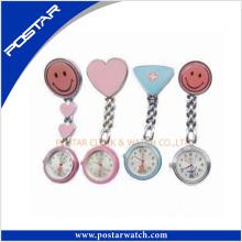 Venta al por mayor sonrisa cara de enfermería reloj de bolsillo con el movimiento de Japón