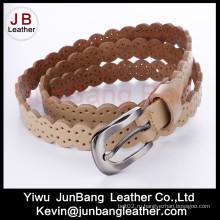 Мода Punching PU кожаный пояс Jean для женщин
