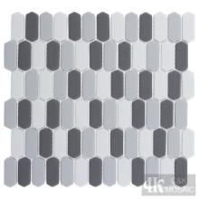Carreau de mosaïque en verre gris clair et foncé