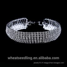 Prix d'usine Crystal Silver Elegent Rome Bracelet For Lady