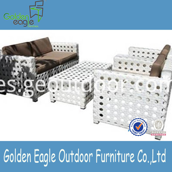 Aluminium Garden Sofa Furniture VIRI Wicker