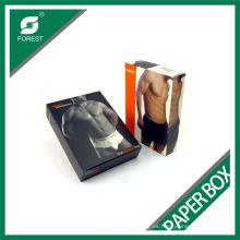 Caja de empaquetado de la ropa interior de los hombres completamente a la medida de encargo Caja de venta al por menor de la venta al por menor