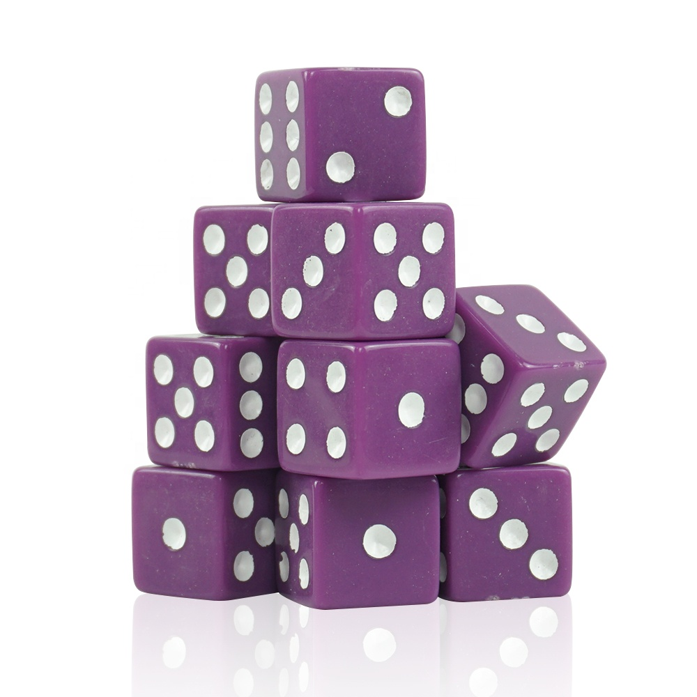 Quality Acrylic Game Dice Purple