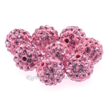 Beste Qualität DIY 6MM 8MM 10MM rosa Lehm befestigten Shamballa lose Perle