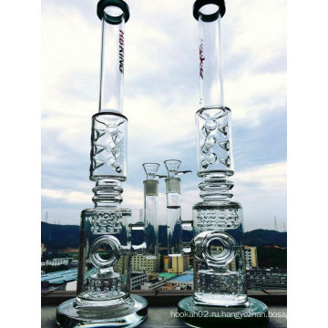 23 Inche K42 Roor 3 Сотовая и птичья клетка перколяторная стеклянная труба, дымящаяся водопроводная труба