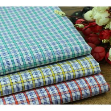 Summer Bright Checks Yarn Dyed Fabric Shirting