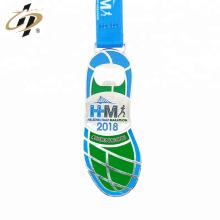 Fabrik benutzerdefinierte Marathon Metall Flaschenöffner Medaille