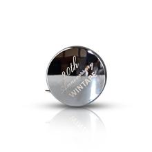 Caja de plata Cinta métrica de acero inoxidable de 6 pies