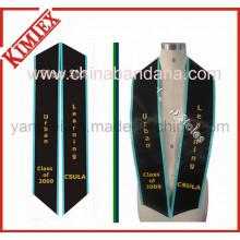 Cetim tecido bordado graduação faixa estola