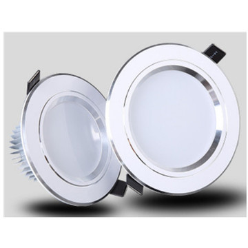 Downlight LED moderno plateado