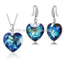 Ensemble de bijoux en forme de coeur à la mode