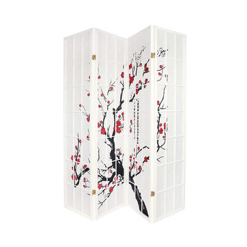 4-Panel Blossom Screen Room Divider