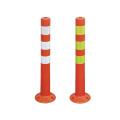750mm PE flexible plastic road traffic warning bollard