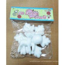 decorativos animales bolas de espuma de poliestireno copos de nieve a prueba de agua al por mayor