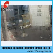 5mm verre décoratif / verre artistique / miroir décoratif avec ISO