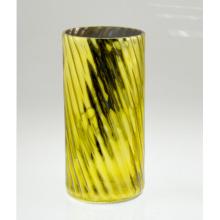 Высокий цилиндрический желтый подсвечник