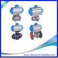 DN50 Edelstahl Körper 3PCS pneumatische Kugelhahn mit Q611F-16P