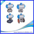 DN50 Stainless Steel Body 3PCS Pneumatic Ball Valve With Q611F-16P