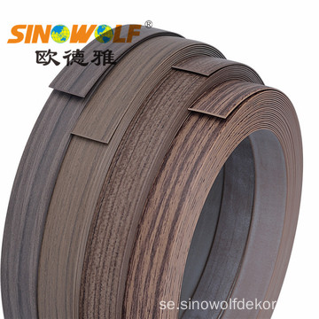 Träfinish Woodgrain PVC Edge Banding For Furniture